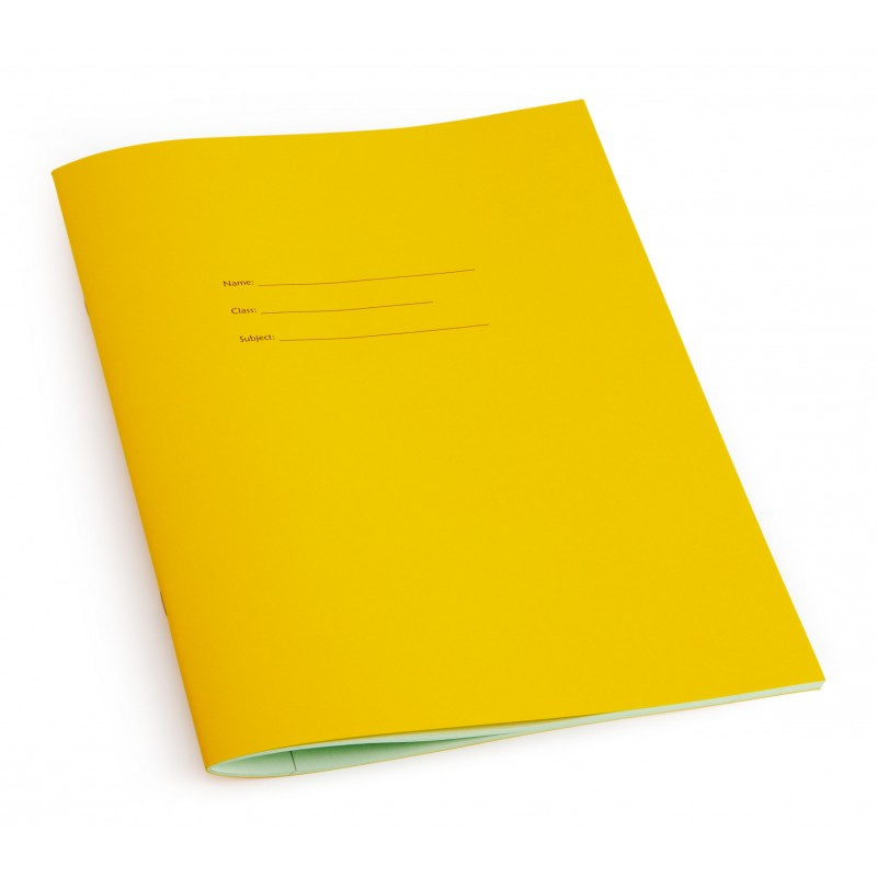 All lined A4 exercise book - Yellow front cover