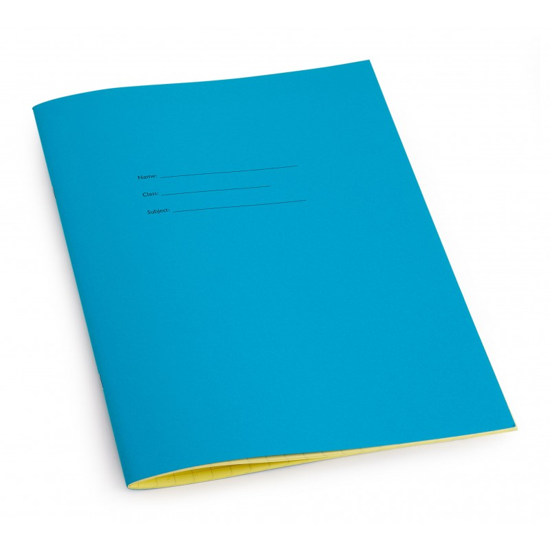 All squared A4 exercise book - Blue front cover