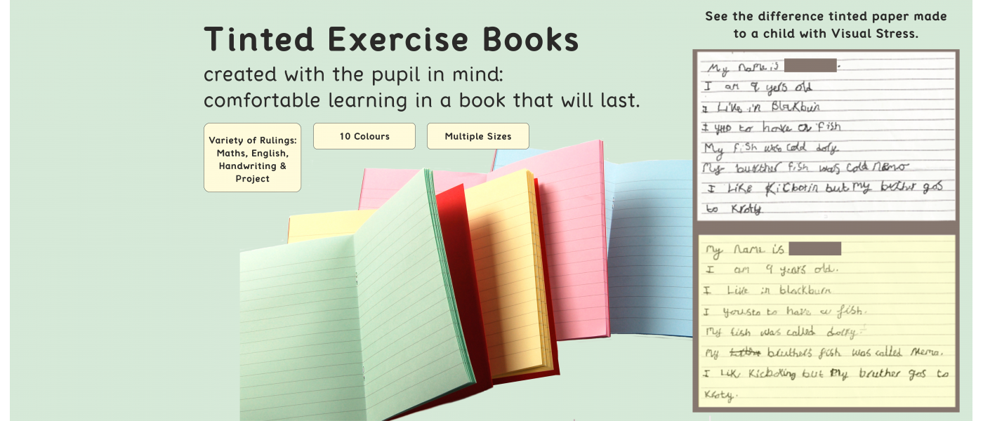 Order Your Tinted Exercise Books