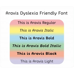 Aravis Dyslexia Friendly Font: Desktop Licence