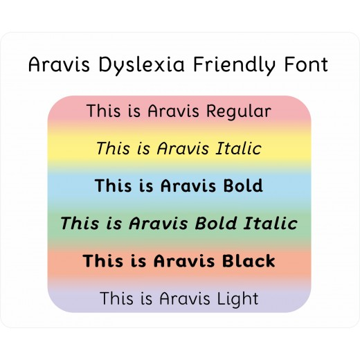Aravis Dyslexia Friendly Font