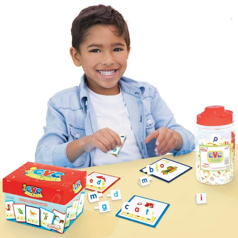 Using the CVC Tub with the activity cards (purchase separately).