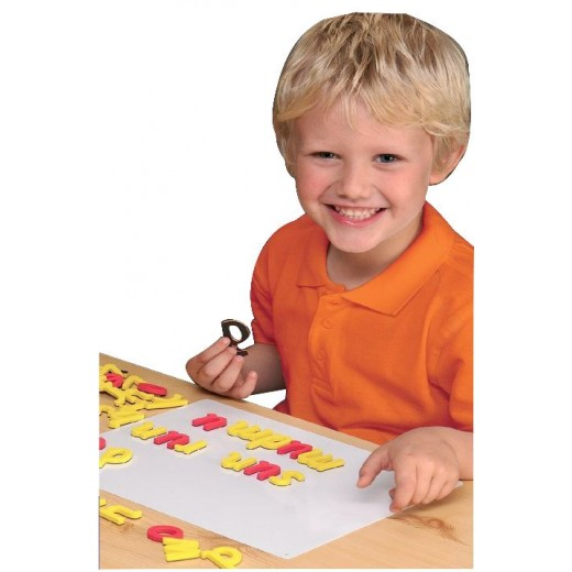 Multisensory magnetic foam letters for spelling and dyslexia.