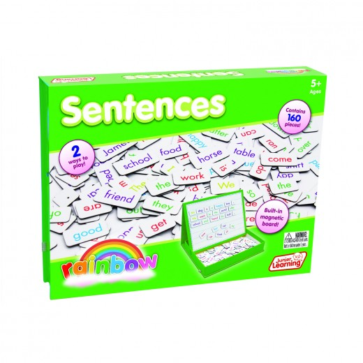 Magnetic sentence building activity set