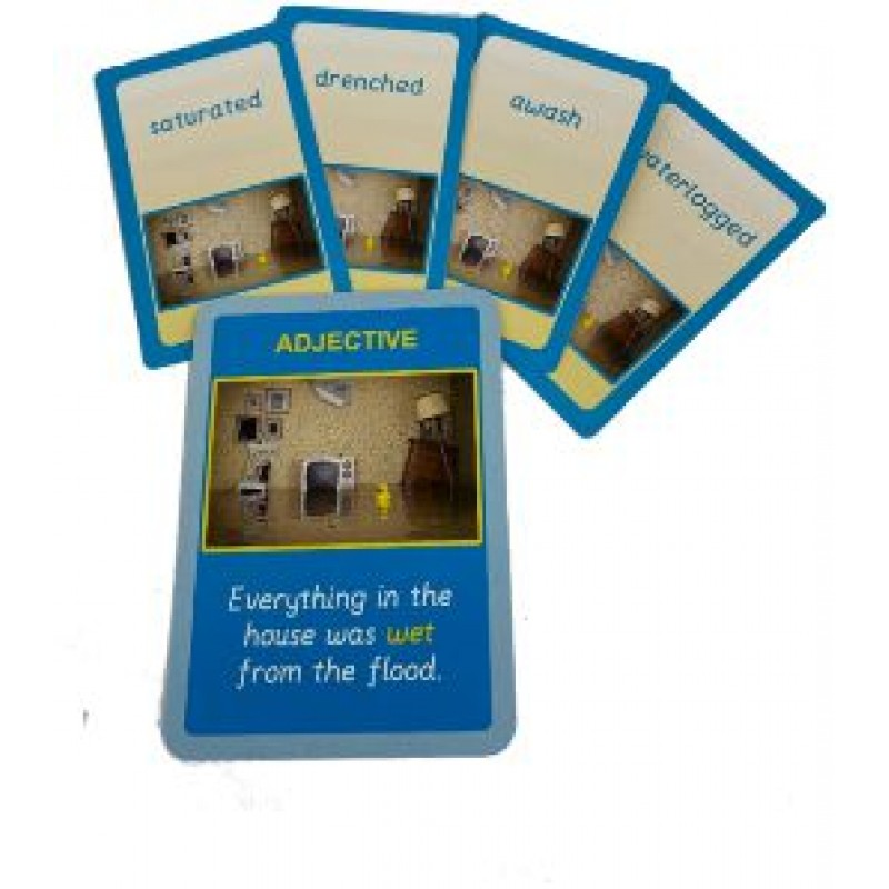 Collect the word cards that go with the sentence