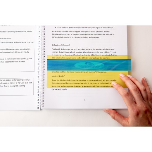 Coloured reading ruler overlays for dyslexia and visual stress