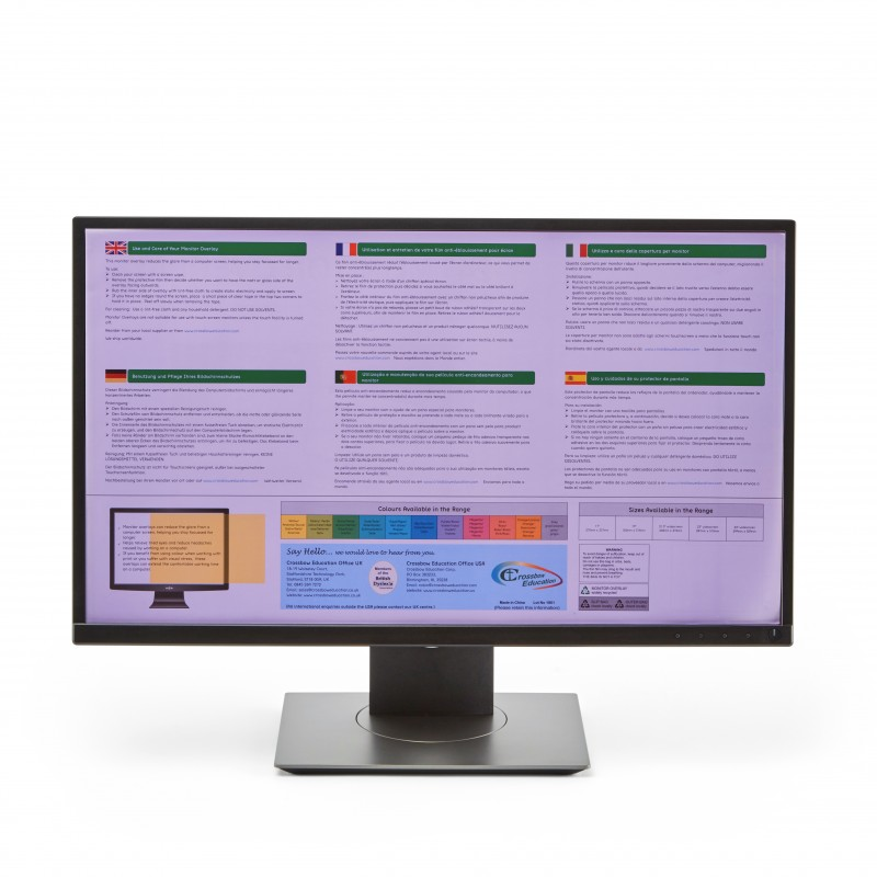 Wide-screen Monitor Overlay - Purple