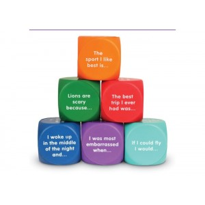 Writing Prompt Foam Cubes