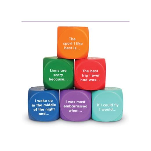 Six soft foam cubes to start writing activities