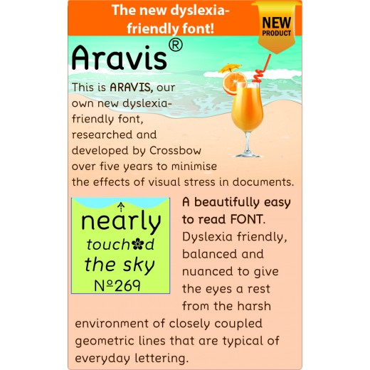 Aravis 2020: the clearest font for dyslexia and visual stress