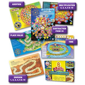 6 Maths Board Games Set 1