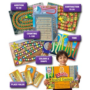 6 Maths Board Games Basic Set