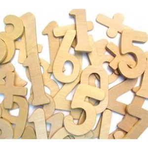 Wooden Digits & Symbols