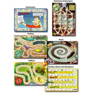 6 Spelling Board Games Level 3 Ages 8-11