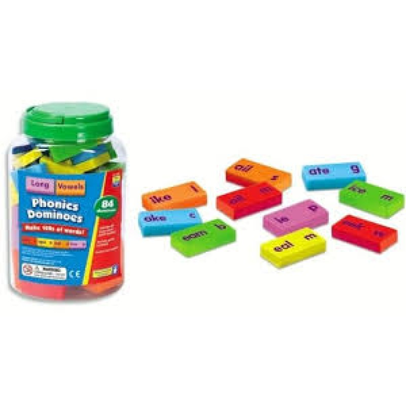 Dominoes game play for phonics learning