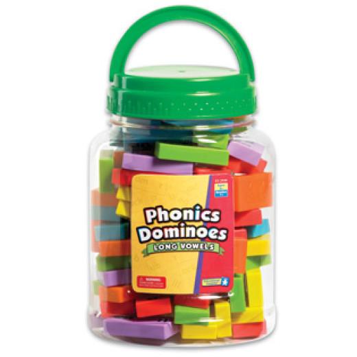 Phonics dominoes long vowels set
