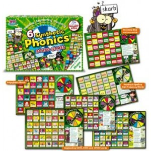 6 Synthetic Phonics Board Games: Phase 4