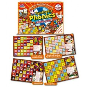 4 Synthetic Phonics Board Games: Phase 2