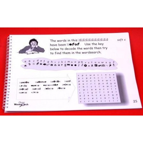 wordsearch activities for phonics and spelling