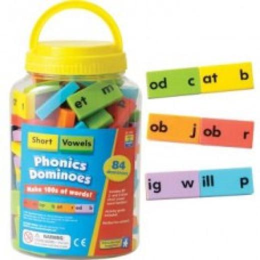 Phonics dominoes short vowel sounds