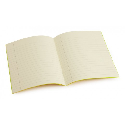 Standard size (9 inch x 7 inch) tinted exercise book - Cream