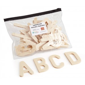 Wooden Alphabet Letters: Upper Case