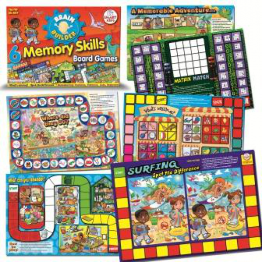 Six memory skills board games