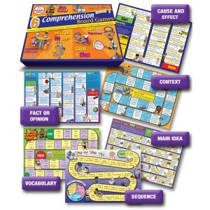 6 Comprehension Board Games: Set 1