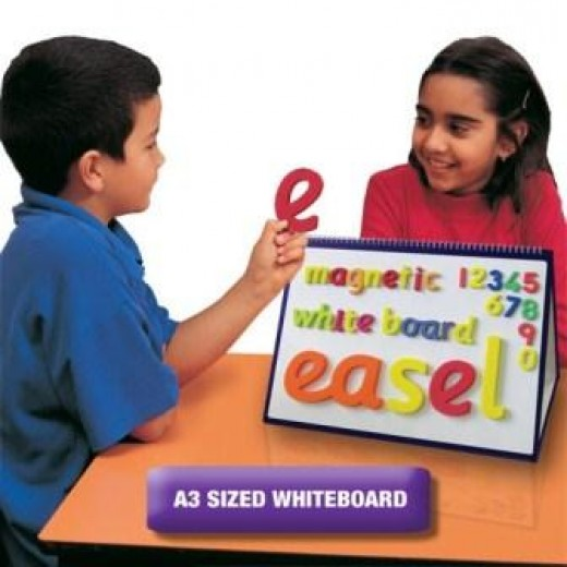 Double-sided A3 magnetic dry wipe easel