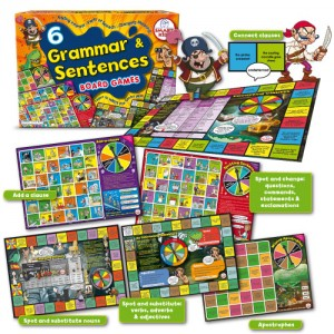 6 Grammar and Sentences Board Games