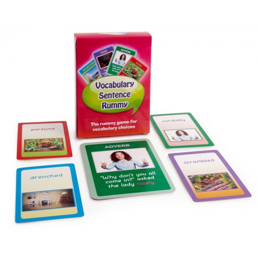 The rummy game for parts of speech and vocabulary