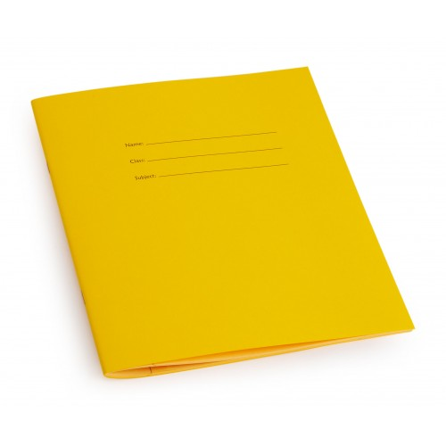 All lined books have a yellow front cover