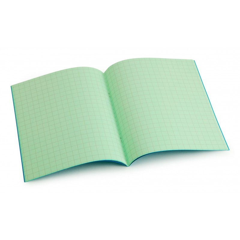 Standard size (9 inch x 7 inch) tinted exercise book - Leaf 10mm squared