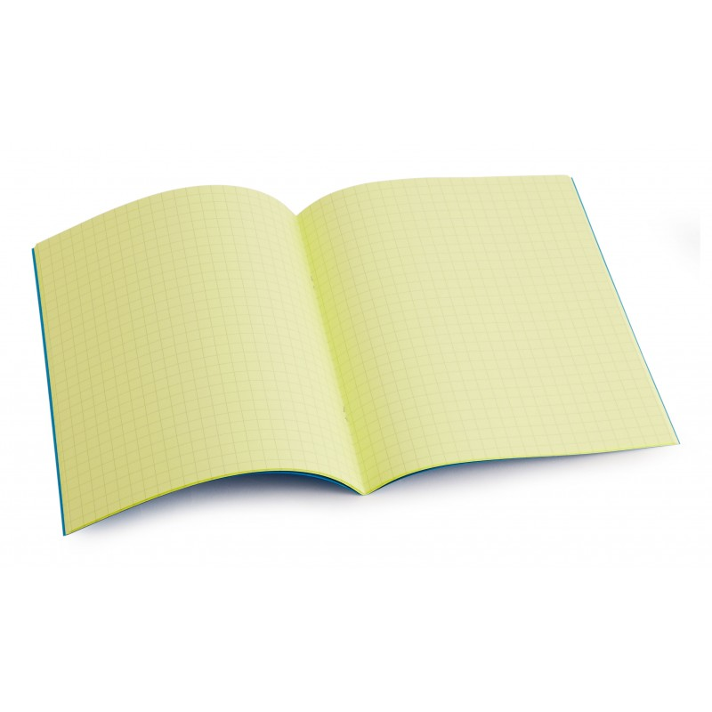 Standard size (9 inch x 7 inch) tinted exercise book - Yellow 7.5mm squared