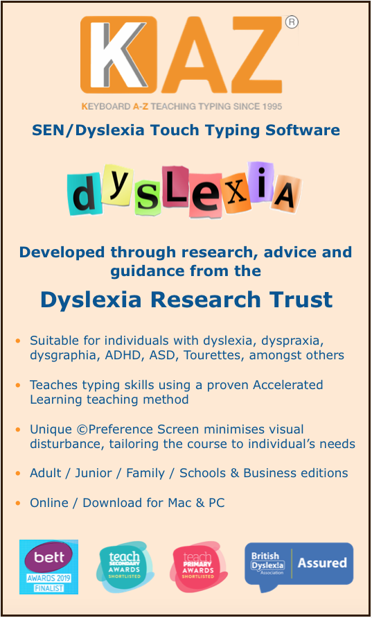 SEN/Dyslexia touch typing course